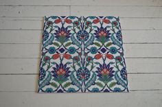 Turkish Iznik tiles Set of four and each size 8x8 by Turkishtiles