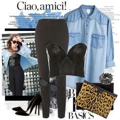 Nice twist on the jean blouse