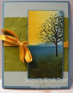 Stampin' Up! Sheltering Tree card created by Michelle Zindorf