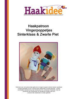 Haakpatroon Vingerpoppetjes Sinterklaas & Zwarte Piet | Haakidee