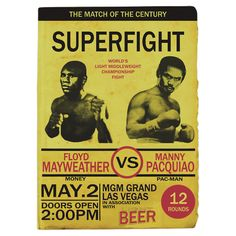 Mayweather VS Pacquiao throwback poster