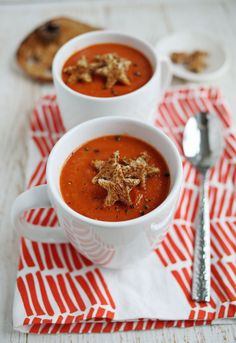 Roasted Red Pepper and Tomato Soup // A Beautiful Mess
