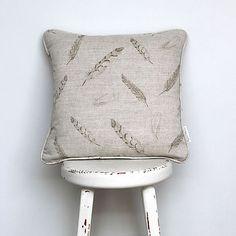 Plumage linen cushion
