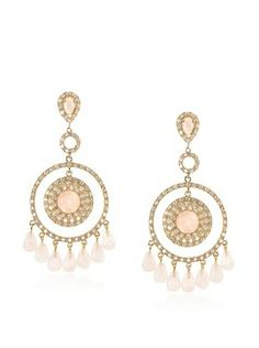 67% OFF Belargo Bedazzled Circle Earrings