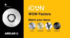 Airflow iCON - it has the WOW factor, for it matches your decor with silver, sandstone, chrome, or anthracite finish. Large Toilets, Shutter Designs, Large Fan, Air Ventilation, Extractor Fans, Red Dot Design, Wow Factor, Modular Design, Under Pressure