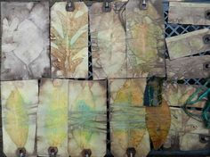 tagging - elm, oak and birch...lots of eco printing