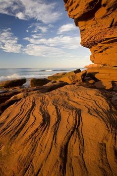 John Sylvester Poster Print Wall Art Print entitled Sandstone Cliffs, Cavendish, Prince Edward Island National Park, Canada, None East Coast Travel, East Coast Road Trip, East Coast Canada, Landscape Photography, Nature Photography, Travel Photography, Hawaii, Kayak, Photos Voyages