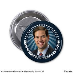 Marco Rubio Photo 2016 Election 2 Inch Round Button