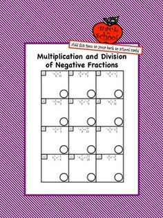 Printables Multiplying Rational Numbers Worksheet parks student and cards on pinterest students will practice multiplying dividing rational numbers in the form of positive negative fractions with this worksheet