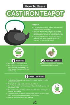 Cast Iron Teapot: Discover the Japanese Tetsubin - Cup & Leaf #tea #castironteapot #teainfographic #infographic