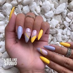 50 Beautiful Nail Art Designs & Ideas Nails have for long been a vital measurement of beauty and Colorful Nail Designs, Cool Nail Designs, Hair And Nails, My Nails, Summer Gel Nails, Almond Acrylic Nails, Funky Nails, Fire Nails, Luxury Nails