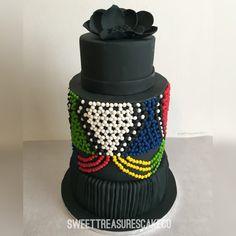 Zulu inspired African Wedding Cakes, African Wedding Theme, Zulu Traditional Wedding, Traditional Cakes, Cake & Co, Cake Art, Beautiful Wedding Cakes, Beautiful Cakes, Africa Cake