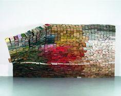 Installation of 4,000 books byanouk kruithof