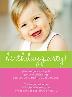 Laughing Sorbet Pink Birthday Invitation
