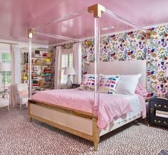 Designer and English Room owner, Holly Hollingsworth Phillips, is the master at creating rooms with big impact. Her luxurious new master bedroom design, will feature pops of her signature bold, colorful strokes and includes our Heavenly Palette pillows and Floral Fantasy wallpaper. Check out Holly's full feature here.