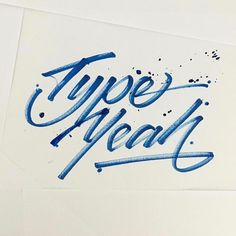 """Typeyeah. on Instagram: """"This weeks sweet #typeyeahtuesdays entry by @aialagarcia with his fantastic lettering of the #typeyeahlogo 👏🏻 Join the challenge by…"""""""