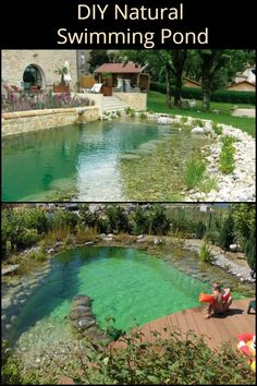 DIY Natural Swimming Pond Build This Pool Requires Minimal Maintenance And Offers Maximum Visual Appeal The post DIY Natural Swimming Pond Build & DIY appeared first on Natural swimming pools . Swimming Pool Pond, Natural Swimming Ponds, Natural Pond, Swiming Pool, Ponds Backyard, Backyard Landscaping, Outdoor Ponds, Small Backyard Pools, Diy Pond