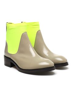 'Comet' leather and neoprene ankle boots by ACNE at Browns Fashion for £460.00