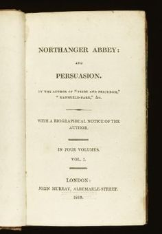 ✕ Northanger Abbey and Persuasion First Edition / #classics #novels