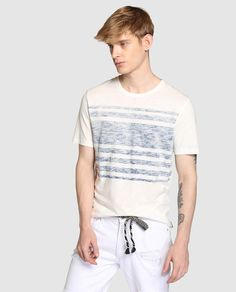 Camiseta de hombre Only & Sons blanca de manga larga