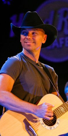 Kenny Chesney on stage at Hard Rock Cafe. #hardrock: Counting the SECONDS until we see Kenny at Hard Rock next weekend (4/20/13). He was so awesome there in 2010.