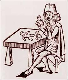 He looks like he may be carving these dolls from clay. Doll Museum: Dolls of the Middle Ages Part I