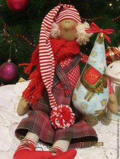 Куклы Тильды ручной работы. Ярмарка Мастеров - ручная работа Новогодний гном .. Handmade.