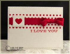 Smiling while Stamping: I Love You handmade love card using My Favorite Things Journal It - For the Record stamp set, Peek a Boo Dots and Blueprints 20 Die-namics