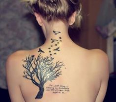 70+ Beautiful Tattoo Ideas for Women on Shoulder : Tattoo Ideas For Women On Shoulder Tree And Bird