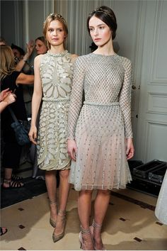 valentino backstage, love these dresses