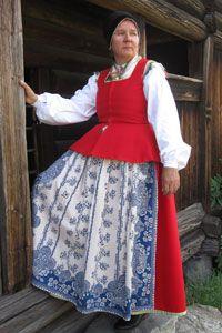 dress from Toarp, Västergötland province, Sweden
