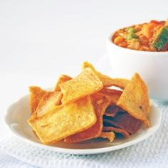 The simple crispy polenta crackers have no oil and are baked not fried!