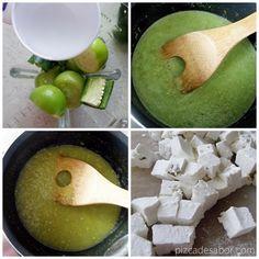 Queso panela en salsa verde | http://www.pizcadesabor.com/2013/09/19/queso-panela-en-salsa-verde/