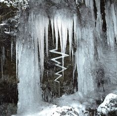 Reconstructed icicles by Andy Goldsworthy Media: Ice Date: 2010 Location: Unknown