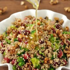 Cranberry Quinoa Salad with Homemade Candied Walnuts