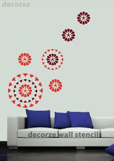 Flower Decorative Stencils for walls use these stencils to decorate your walls Stencils are easy, reusable stencils & cost effective