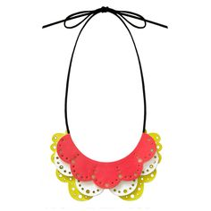 NEON JEWELLERY   NEON NECKLACE   HOUSE OF KAMI: made from leather.