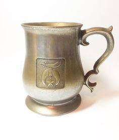 Masonic pewter mug  by tompkinsoriginal on Etsy