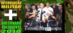 Intervenção Militar #SOSFFAA + @jairbolsonaro #Bolsonaro2018 = #LulaNaCadeia e todos corruptos #LavaJatoEuApoio sim!