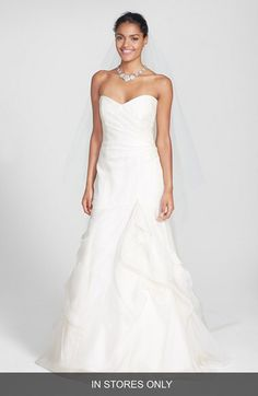 BLISS Monique Lhuillier BLISS Monique Lhuillier Strapless Silk Organza Mermaid Wedding Dress (In Stores Only) available at #Nordstrom