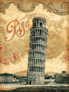"Italy, Leaning Tower of Pisa 12""x 16"". $12.99, via Etsy."
