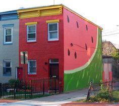 The Watermelon House in Washington #DC #streetart