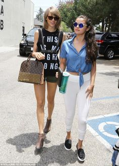 Girls' day out: Taylor Swift showed off her signature style while out to lunch with BFF Se...