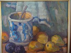 "Original oil still life by artist Leo Ayotte, 16""x20"" offered by Canadian ebay sell rachellegauthier for 4,950 dollars. I am not familiar w/the artist."