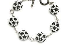 Soccer, anyone?.  Find more projects on BeadAndButton.com