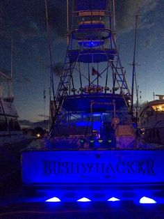 """Bertram 38 """"Bushwhacker"""" in Hyannis Marina on Cape Cod. All rigged and ready for the Hyannis Tuna Fest! #TeamBertram #TunaFishing"""