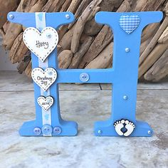 #Personalised freestanding wooden letter new baby girl boy #christening #keepsake,  View more on the LINK: 	http://www.zeppy.io/product/gb/2/151822676285/