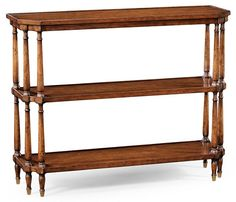 Antique Walnut Console on Baluster Legs from Jonathan Charles (494026), $1,173.00