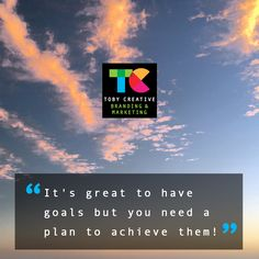 """""""It's great to have goals but you need a plan to achieve them!""""  Start your 2018 marketing activities with guidance, support and structure from Toby Creative - Branding & Marketing Perth.   Establish goals, create strategy, determine a plan, implement your campaigns, monitor progress, report on results. We offer a free, no-obligation meeting to discuss your individual business marketing requirements and outline how we can assist you.  Phone (08) 9386 3444 or visit…"""