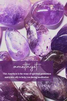 This Amethyst is the stone of spiritual protection and a nice ally to help you during meditation.